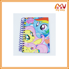 Fancy colorful cartoon pattern custom hardcover spiral notebook paper notebook made in China