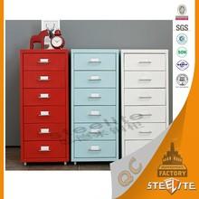 Multi Drawer Living Room Furniture Tall Thin Storage Cabinet / Storage Cabinet Metal