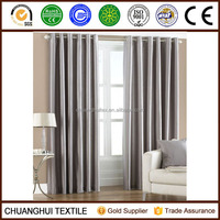 2 Panel Faux Silk Dupioni Solid Lined Grommet Eyelet RingTop Curtains Drapes