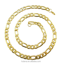 6/8mm Stainless Steel Necklace 3:1NK Chain Gold Necklace Designs in 10 grams 91814