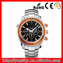 2015 watch factory china Men Analog Display Automatic Silver Tone Watch