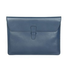 Blue Genuine leather tablet sleeve cover case for 9.7 inch ipad air