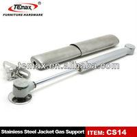Hydraulic lift gas strut with lockable