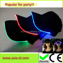 Wholesale led high hats factory price glow in the dark hat