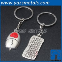 Manufacturer custom promotion cheap mouse keyboard key chain