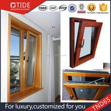 Wood aluminum profiles picture frame tilt turn windows,double glazed window