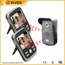 Kivos fashion design waterproof with battery video door intercom wireless