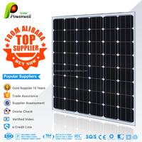 Powerwell Solar 200w Mono With CE/IEC/TUV/ISO Approval Standard Popular Supplier 200W PV mono Solar Panel black 156mm*156mm