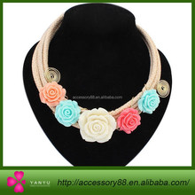 Fashion four garden style to flower necklace, necklace and exaggeration