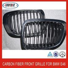 carbon fiber front grill car grille for BMW E46 4DR 1998-2004