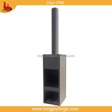 2015 new design modern chimeneas bbq pizza oven black steel