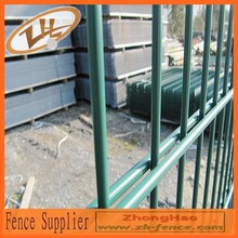 galvanized or pvc coated garden welded double wire fence