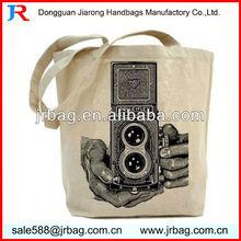 Simple Market Long Handle Cotton Shopper Bags