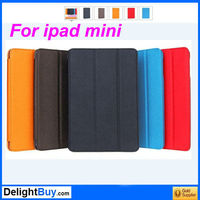 PU Leather Magnetic Smart Case Skin Foldable Cover Stand for iPad Mini Free / Drop Shipping