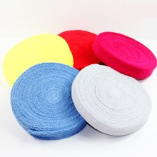 Supper high quality 100% cotton hand towel tape glue / badminton racket sweat band 10 m long