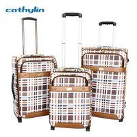 Trolley PU leather luggage case travel luggage box