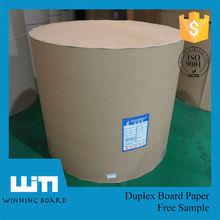 C2S duplex board white back / hard stiff paper board / snow white wrapping paper