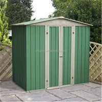 Brand New 1.93x1.31x1.9m Small Lean to Shed Outdoor Patio Shed Green Prefab Backyard Shed Metal Garden Shed Tools Bike Shed