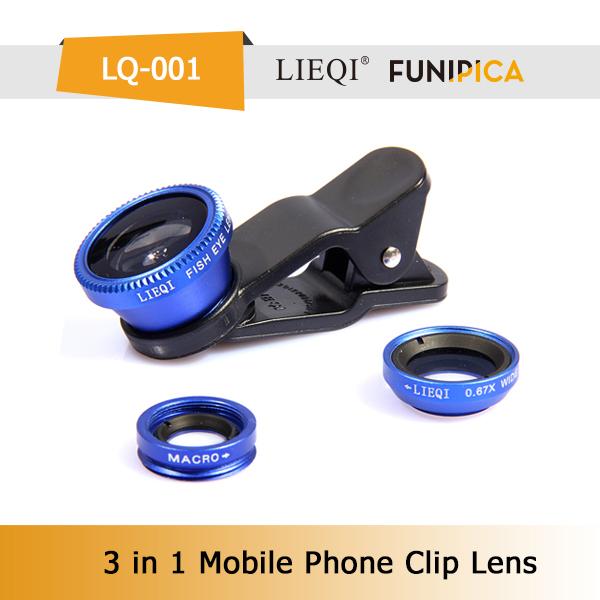 Lieqi 3 1 cep telefonu evrensel zoom kamera lensi samsung/iphone htc