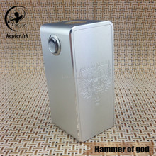 Best sale!!!mechanical mod electronic cigarette hammer of god box mod 1:1 clone Fit for Four 18650 batteries from kepler factory