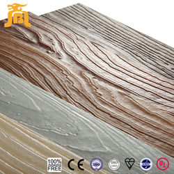 Wear Resistant Light Weight Natural Wooden Grain 3D Wall Panel Building Material
