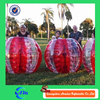 Half red color inflatable body zorbing bubble ball, body bounce grass ball