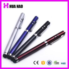 2015 popular ball 4 in 1 multi-function ballpoint pen with led flashlight and laser pointer and stylus touch pen,