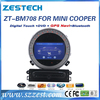 mini cooper accessories support gps/dvd player/radio/audio/BT/TV/mp3 players/3G