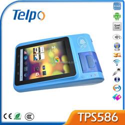 Telpo New Product TPS 586 A9 Quad Core Android4.2 Rfid Handheld Reader Mini Printer