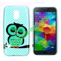 Green Owl Pattern TPU Case Cover for samsung galaxy s5 mini case