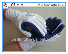 palm rubber coated gloves SAFETY GLOVE