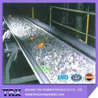 EP200 Heat Resistant Rubber Conveyor Belt carrying hot load materials with non-cracking property