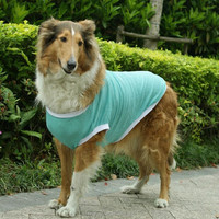 Large Dog Clothes Pet Apparel 100% Cotton wholesale plain dog t-shirts Dog Vest Golden Retriever Clothes For Spring And Summer