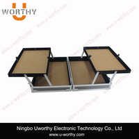 Cheap Aluminum Hard Case Tool Box / Beauty Box Vanity Case with Multilayer Drawers