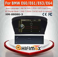 HIFIMAX 8'' satellite radio for Car DVD Player GPS Navigation for BMW 5 series E60 for BMW 3 series E90 E91 E92 E93