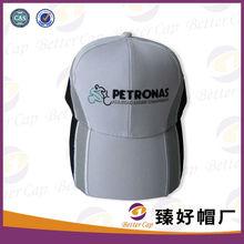 logo bordado de color blanco de la marca de la promoción de la tapa