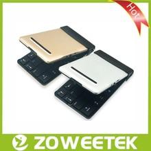 2015 High Quality Aluminum Bluetooth Folding Tablet Keyboard