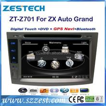 ZESTECH 2din navigation system tv bluetooth dvd cd for ZX Auto Grand Tiger