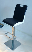 2015 Modern stainless steel Bar Stool with Greener PU leather upholstery
