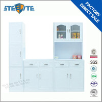 Powder coating l shaped modular kitchen designs white kitchen cabinet