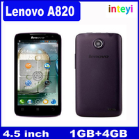 "Original Lenovo A820 A820T Mobile Phone 4.5"" IPS 1GB RAM 4GB ROM MTK6589 Quad Core Android Dual SIM 3G WCDMA/GSM GPS 8MP"