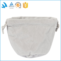 Fashion Natural flannel Fabric Drawstring Gift Bags