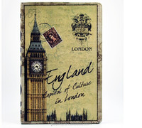 Hot selling tablet leather case drawing In England Big Ben case for IPad Air