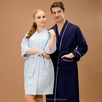 picture woman usa sex sex blue single layer waffle bathrobe hot sale for 5 stars hotals