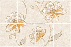 Waterproof white embossed ceramic tile in foshan