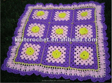 Direct Factory Manufacturer OEM Cute Fashionable Hand Knit Crochet Baby Blankets Afghans Throws Made to Order (KCC-HCB0015)