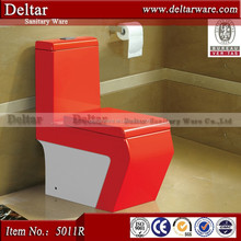 2015 new products red colord wc toilet prices, red/blue color toilet with slow down seat coverd