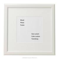 White wood photo frame timber frame / Eco-friendly photo frame wholesale