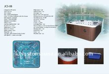 Outdoor Massage Spa, Walk in Bathtub with Waterproof Pop-up TV, Ozone, Heater