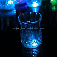 New Drinking mug Cup Glass Multi Color Light Up Flashing Blinking Glow small size 3 leds(red blue green)/led cup